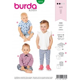 Baby Shirt Sewing Pattern - Burda Kids N°9318