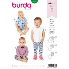 Baby Shirt Sewing Pattern - Burda Kids N°9318