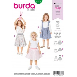 Skirt Sewing Pattern - Burda Kids N°9319