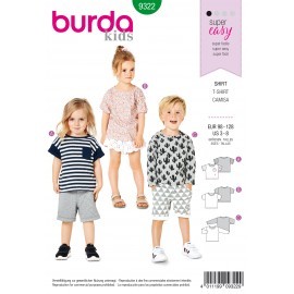 Top Sewing Pattern - Burda Kids N°9322