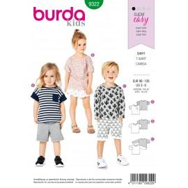 Top Sewing Pattern - Burda Kids N°9322