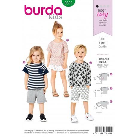 Patron Top Enfant Burda N°9322