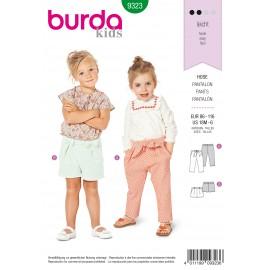 Pants Sewing Pattern - Burda Kids N°9323