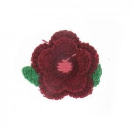 Hooked flowers - burgundy