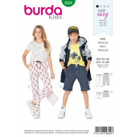 Teen Pants Sewing Pattern - Burda Kids N°9324