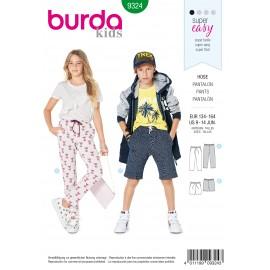 Teen Pants Sewing Pattern - Burda Kids N°9324