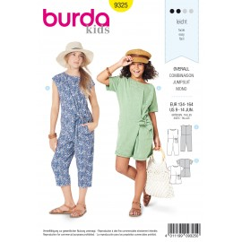 Teen Jumpsuit Sewing Pattern - Burda Kids N°9325