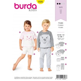 Pajamas Sewing Pattern - Burda Kids N°9326