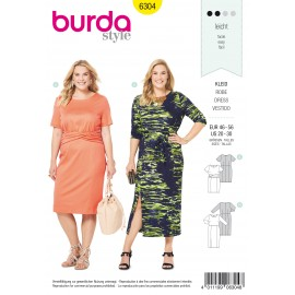 Plus Size Dress Sewing Pattern - Burda Women N°6304