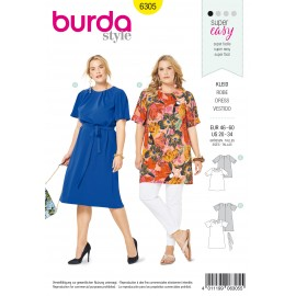 Plus Size Dress Sewing Pattern - Burda Women N°6305