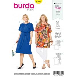 Plus Size Dress Sewing Pattern - Burda Women N°6305