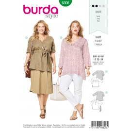 Plus Size Shirt Sewing Pattern - Burda Women N°6306