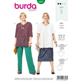 Plus Size Shirt Sewing Pattern - Burda Women N°6306