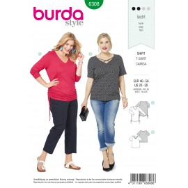 Plus Size Top Sewing Pattern - Burda Women N°6308