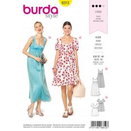 Patron Robe Femme Burda N°6312