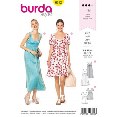 Patron Robe Femme Burda N 6312