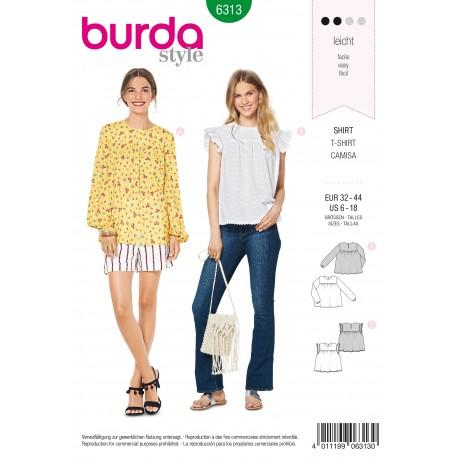 Patron Blouse Femme Burda N°6313