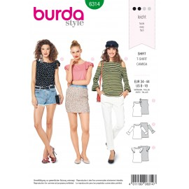 T-Shirt Sewing Pattern - Burda Women N°6314