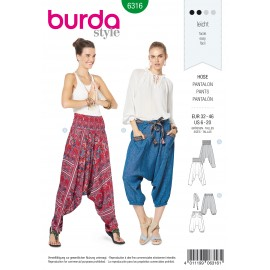 Harem Pants Sewing Pattern - Burda Women N°6316