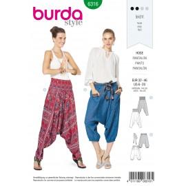 Patron Pantalon Sarouel Femme Burda N°6316