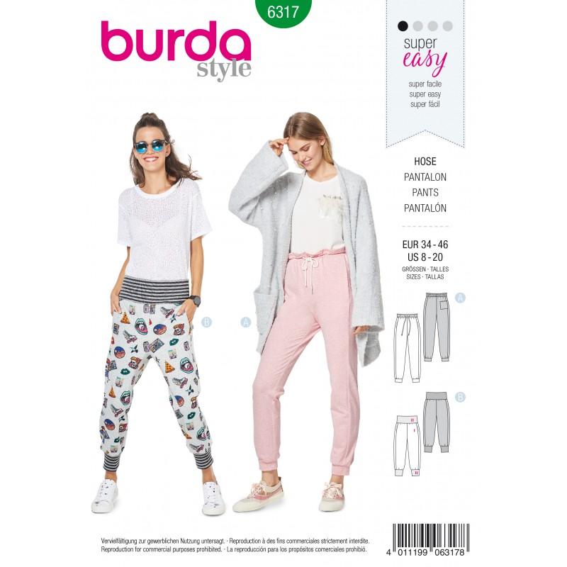Patron Pantalon Jogging Femme Burda N°6317 ... 937ccce28d2