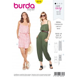 Jumpsuit Sewing Pattern - Burda Women N°6318