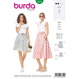 Skirt Sewing Pattern - Burda Women N°6319