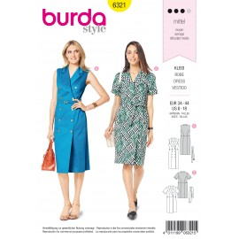 Dress Sewing Pattern - Burda Women N°6321