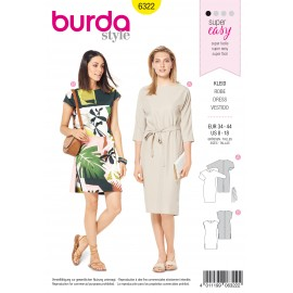 Dress Sewing Pattern - Burda Women N°6322