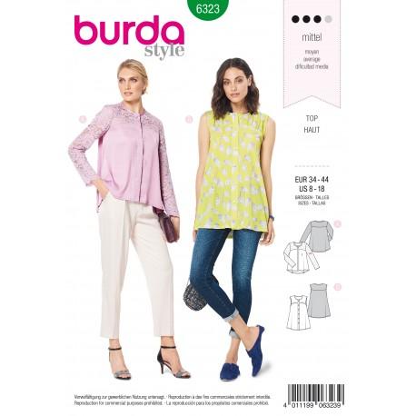 Patron Blouse Trapèze Femme Burda N°6323