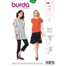Patron Top Tunique Femme Burda N°6324