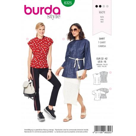 Patron Top Blouse Femme Burda N°6325