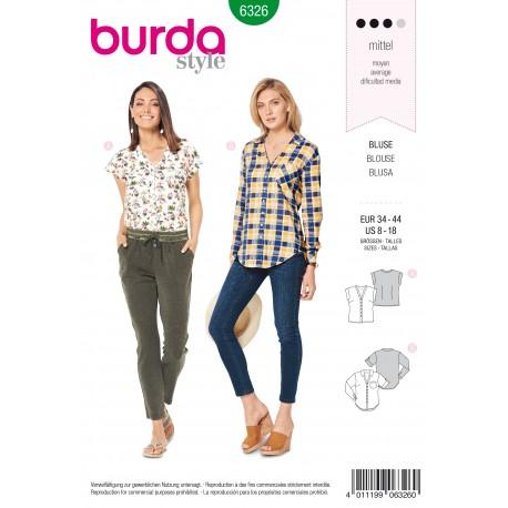 Blouse Sewing Pattern - Burda Women N°6326