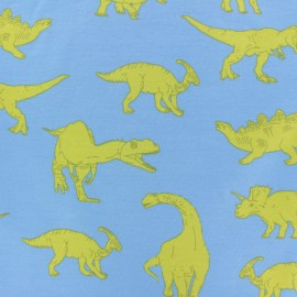 Tissu Poppy sweat léger Powerful Dinosaurs - bleu x 10cm