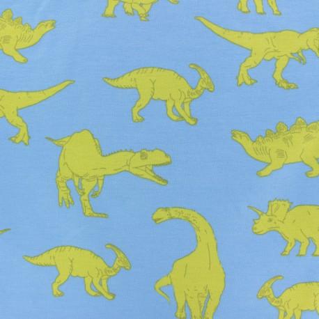 Tissu Poppy sweat léger Powerful Dinosaurs - bleu x 10cm