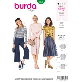 T-Shirt Sewing Pattern - Burda Women N°6328