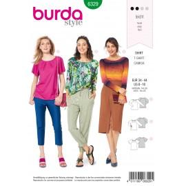 Patron Top Femme Burda N°6329