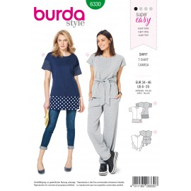 Top Sewing Pattern - Burda Women N°6330
