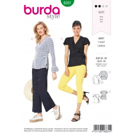 Crossover Top Sewing Pattern - Burda Women N°6331