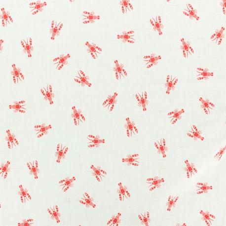 Tissu lin viscose léger Linen Homard by penelope® - écru x 10cm