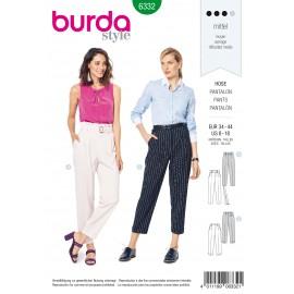 Patron Pantalon Taille Haute Femme Burda N°6332