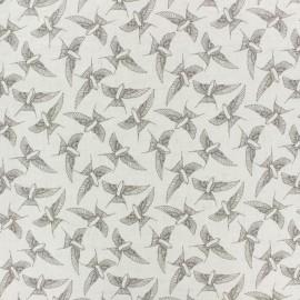 light linen viscose fabric by penelope® - raw Linen Bird x 10cm