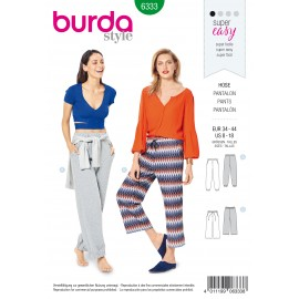 Jogger Pants Sewing Pattern - Burda Women N°6333