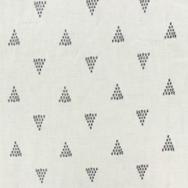 light linen viscose fabric by penelope® - raw Linen Triangles x 10cm