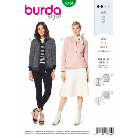 Zipped Jacket Sewing Pattern - Burda Women N°6334
