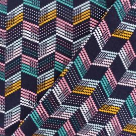 Tissu Viscose Radiance Jim by Penelope® - violet x 10cm