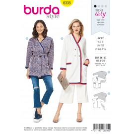 Crossover Jacket Sewing Pattern - Burda Women N°6335