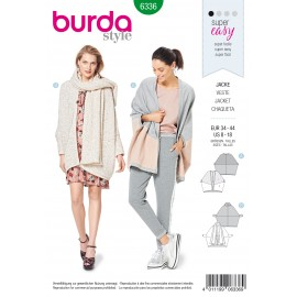 Batwing Jacket Sewing Pattern - Burda Women N°6336