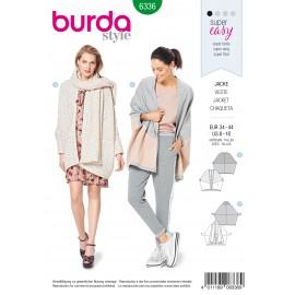 Batwing Jacket Sewing Pattern - Burda Women N°6336