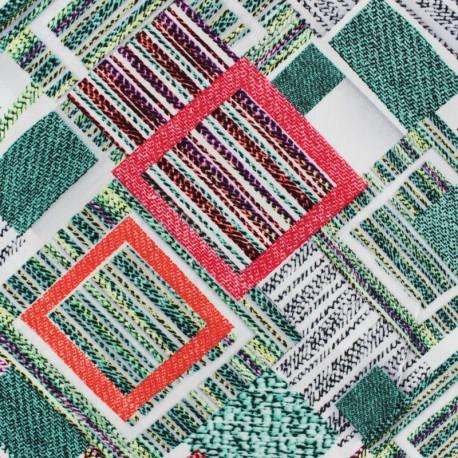 Viscose fabric - White Parker x 10cm